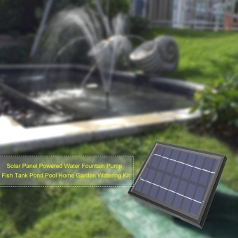 Solar Panel Powered Water Fountain Pump Fish Tank Pond Pool HomeGarden Watering Kit - intl