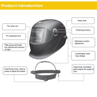 Solar Power Auto Darkening Welding Helmet Arc Tig Mig Professional Welder Mask - intl - 5