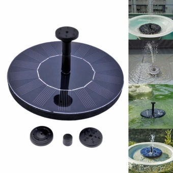Solar Power Bird Bath Fountain, Solar Panel Water Floating FountainPump Kit for Bird Bath,Fish Tank,Small Pond,Garden Decoration -intl