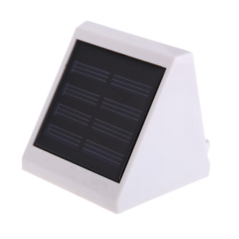 Solar Power Outdoor LED Wall Fence Lamp for Garden Deck Yellow Light