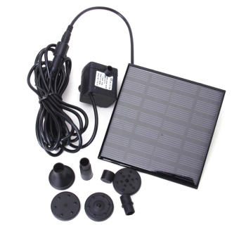 Solar Power Water Pump Garden Fountain (Black)