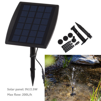 Solar Powered Professional Pump Fountain Pond Lights 9V 2.5WOutdoor Garden - 2