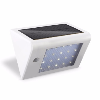 Solar Powered Wall Light Super Bright 20 LED Motion Sensor Detector Light Sconces Waterproof Outdoor Security Lamp Light - intl