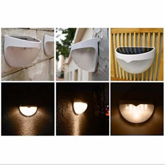 Solar Powered Wall Sensor Light Accent Lighting Waterproof 6 LED Practical Acent Lighting 10 Packs Warm White - intl - 3