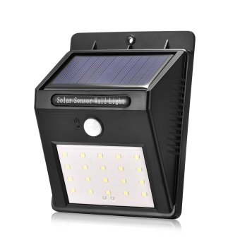 Solar Sensor Wall light 20 LED Outdoor Waterproof Rechargeable Solar Power PIR Motion Garden Lamp - intl