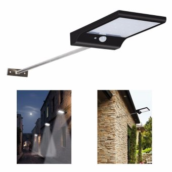 Solar Street Lights with Mounting Pole 36LED Wall Lights MotionSensor Outdoor Security Lighting Waterproof for Balcony PorchDriveway Fence Avenue or Indoor Use -1Pack - intl