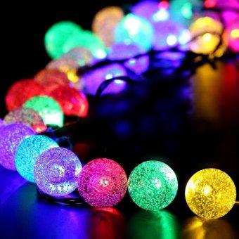 Solar string lights 20ft 30 led crystal ball waterproof outdoor solar string lights 20ft 30 led crystal ball waterproof outdoor string lights solar powered globe fairy workwithnaturefo