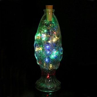 Solar Wine Bottle Cork Shaped String Light 8 LED Night Fairy Light Lamp MR - intl Price Philippines