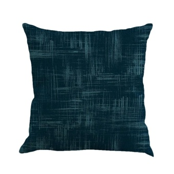 Solid Color Linen Cushion Cover Throw Pillow Case Sofa Home Decor NY - intl