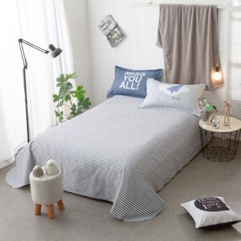 Solid color navy Panda printing style 100 % Cotton Bedding set 4pcsKing size bedsheet pillowcase duvet cover bed set - intl - 2