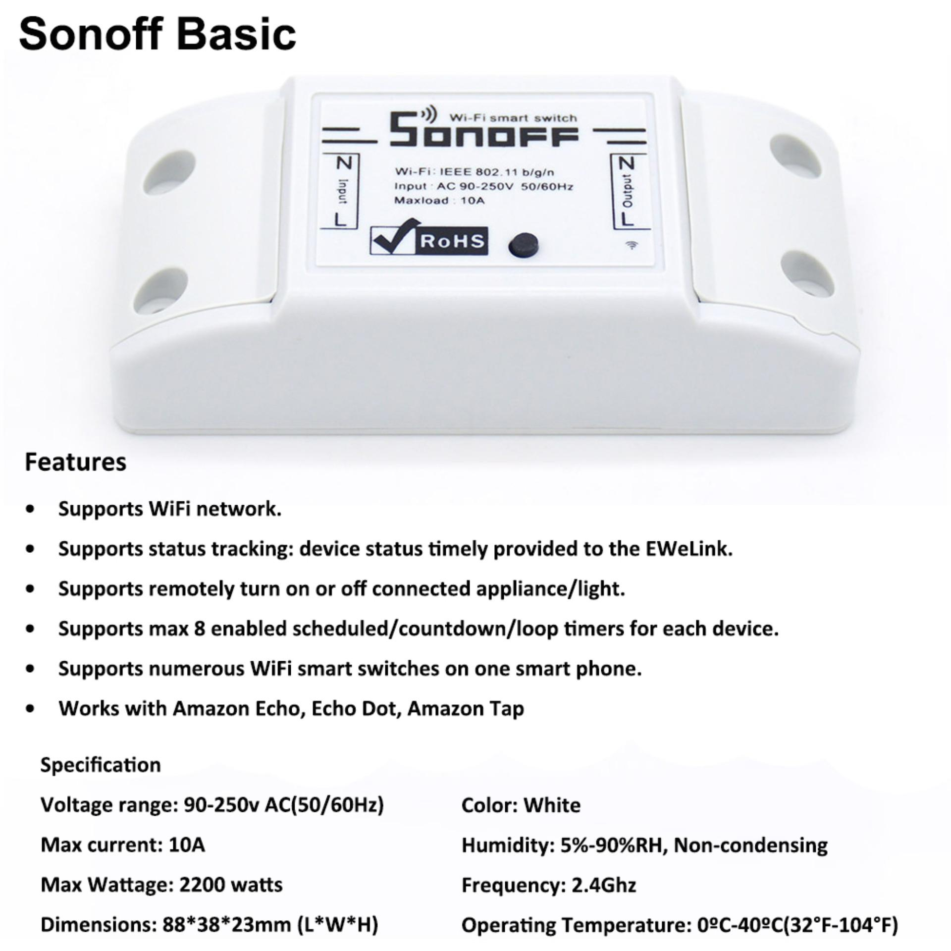 Philippines Sonoff Wifi Wireless Smart Switch For Mqtt Coap Home Intl