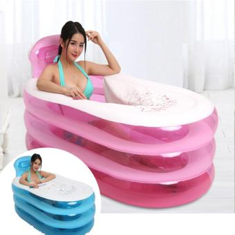 Spa Tub Shower Tray Bidet Bathtubs 150 cm*85 cm*70 cm Blue PinkColor Big PVC Folding Portable Bathtub - intl