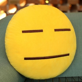 Speechless Face Creative Emoji Throw Pillow Back Pillow, Size:About 28cm X 28cm - intl