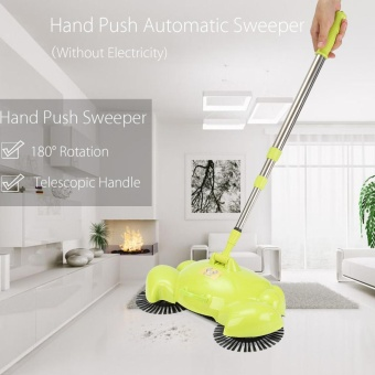 Spin Home Hand Push Broom Household Floor Dust Cleaning Cleaner Sweeper Mop Tool