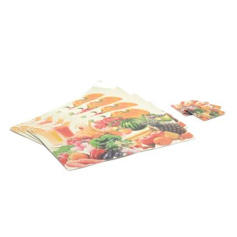 Sponge Placemat Set of 8 (Fruits with Vegetables)