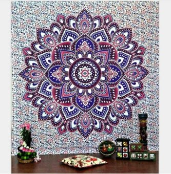 Square Hippie Tapestry Beach Throw Mandala Towel (Size: 130x150cm)- intl