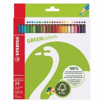 STABILO Green Colors Box 24S Long