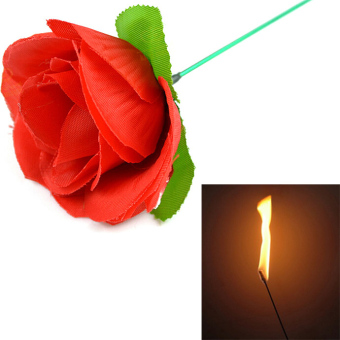 Stage Close Up Magic Trick Torch To Rose Tricks Fire FlameAppearing Flower