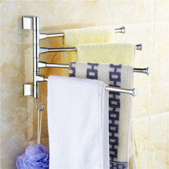Stainless Bathroom Kitchen Towel Polished Rack Holder Hardware Accessory - Intl
