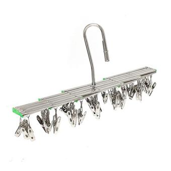 Stainless Steel 35 Clips Folding Underwear Hanging Bra Sock LaundryHanger Drying Clothes Rack Dryer - intl - 3