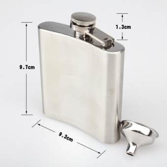 Stainless Steel 6OZ Alcohol Liquor Flask - intl
