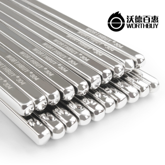 Stainless steel chopsticks square alloy chopsticks
