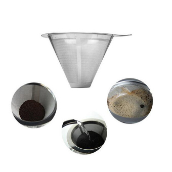 Stainless Steel Coffee Filter Coffee Dripper Pour Over Coffee Maker Drip Reusable Efficient separation Coffee Filter - intl - 3