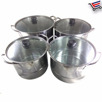 Stainless Steel Cooking Ware Stock Pot 12-Piece Set