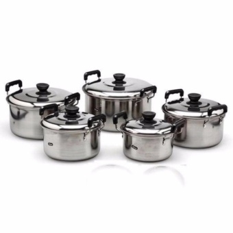 Stainless Steel Cookware Stockpot sets 5pcs (Silver)