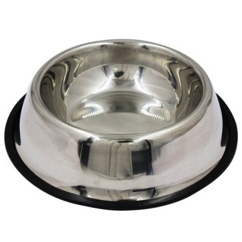 Stainless Steel Dog Food Bowl (Silver)