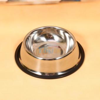 Stainless Steel Dog Pet Food Water Bowl water Dish (16cm) - intl - 3