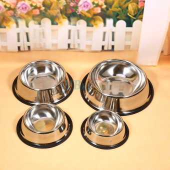 Stainless Steel Dog Pet Food Water Bowl water Dish (16cm) - intl