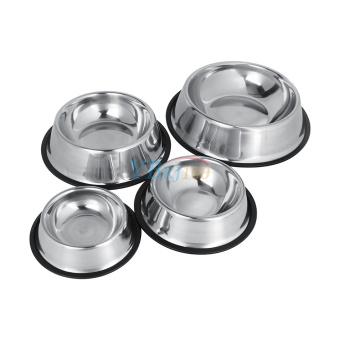 Stainless Steel Dog Pet Food Water Bowl water Dish (16cm) - intl - 2