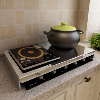 Stainless steel Electromagnetic Stove base kitchen shelf