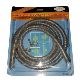 Stainless Steel Enforced Flexible LPG Gas Hose 1.8meters
