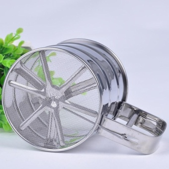 Stainless Steel Fine Mesh Flour Bolt Sifter Manual Sugar Icing Shaker Cup Shape - intl
