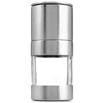 Stainless Steel Manual Salt Pepper Mill Grinder Seasoning CookingTools (silver)