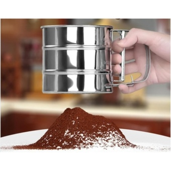 Stainless Steel Mesh Flour Sifter Baking Icing Sugar Sieve Tool CupShape - intl