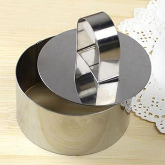Stainless Steel Mousse Cake Moulds Fondant Cake Ring Slicer CutterDIY Baking Tools style:Round - intl