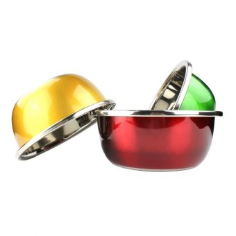 Stainless Steel Multi Colored Mixing Bowl Set of 3 Pcs
