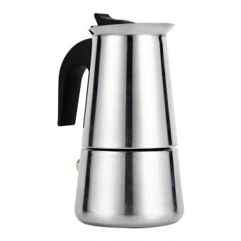 Stainless Steel Percolator Moka Pot Espresso Coffee Maker Stove(100ml) - intl
