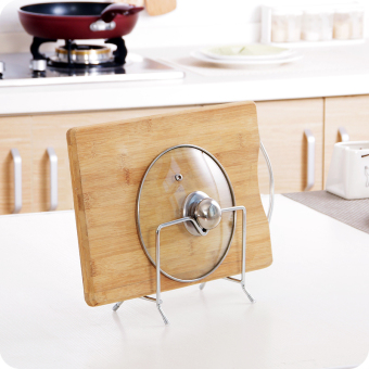 Stainless steel pot rack cutting board rack