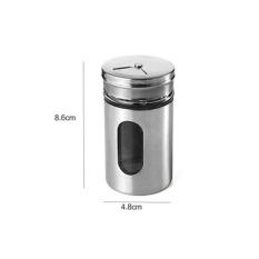 Stainless Steel Rotary Three Caliber Kitchen Bar Seasoning PotPepper Pot Barbecue Seasoning Seasoning Seasoning Bottle -
