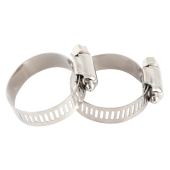 Stainless Steel Screw Band Clip Fuel Silicone Hose Tube Clamp (35mm-51mm) - intl