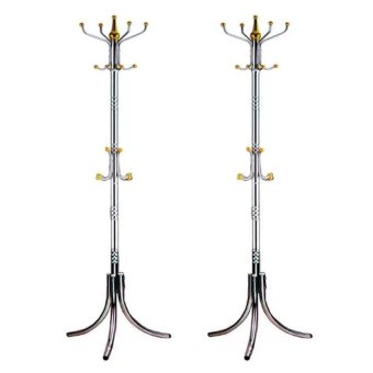 Stainless Steel Stand Rack (Silver/Gold) Set Of 2