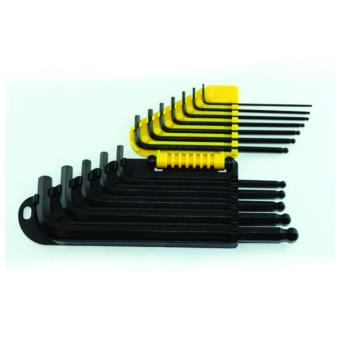 Stanley 69-257 Hex Key Set Long Arm inch 12pc BallTip(Black/Yellow)