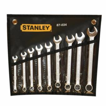 Stanley 87-034 Wrench Set Combination Slimline 9pc. (Silver/Black)
