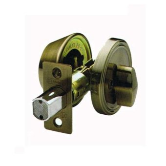 STANLEY DEADBOLT LOCK - SINGLE CYLINDER (AB)