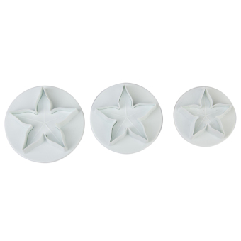 Stapelia Fondant Cake Cutter Set of 3 (White)