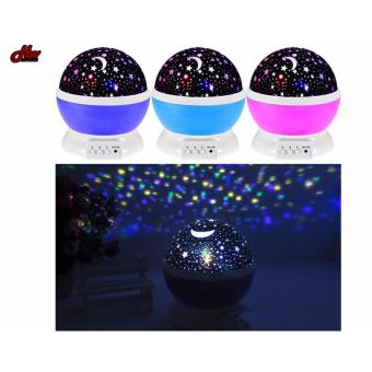 Star Projection Night Lamp (Pink) - 3